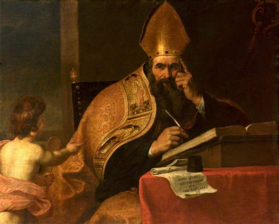 Seghers, Gerard, 1591-1651; The Four Doctors of the Western Church: Saint Augustine of Hippo (354-430)